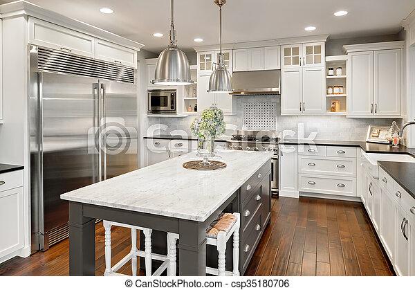 kitchen in luxury home - csp35180706