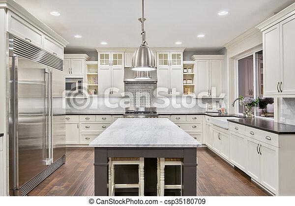 kitchen in luxury home - csp35180709