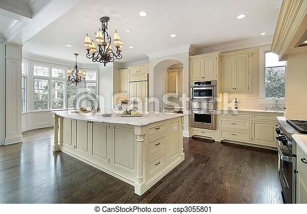 Kitchen in new construction home - csp3055801
