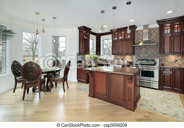 Kitchen in new construction home - csp3056209