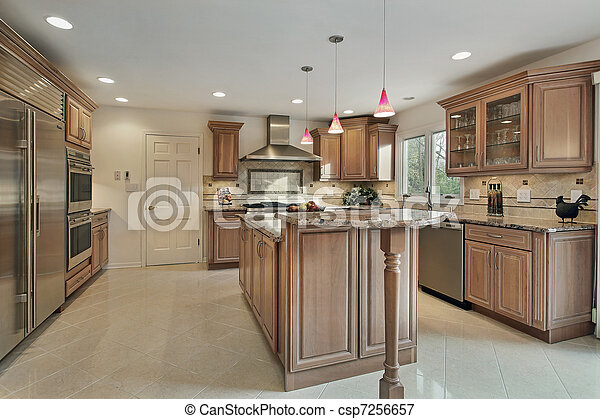 Kitchen in remodeled home - csp7256657