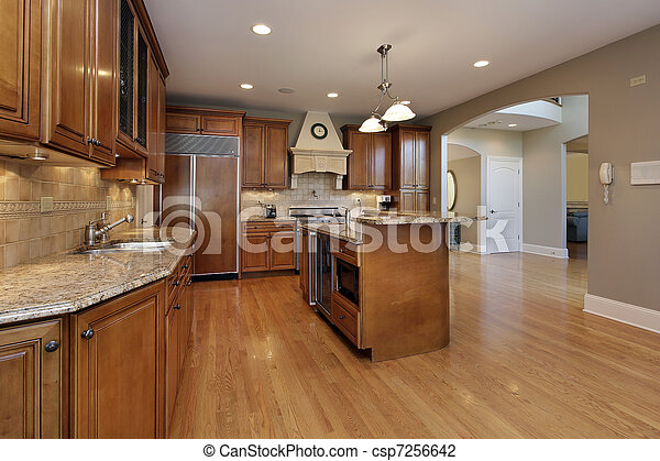 Kitchen in remodeled home - csp7256642