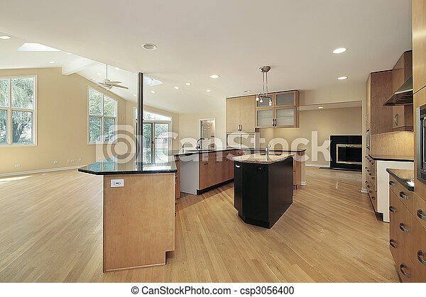 Kitchen in remodeled home - csp3056400
