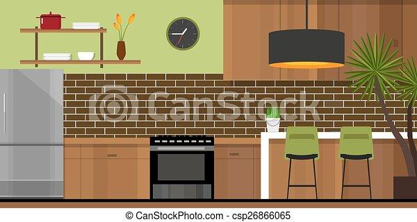 Kitchen Interior Furniture House Kitchen Interior With Wood