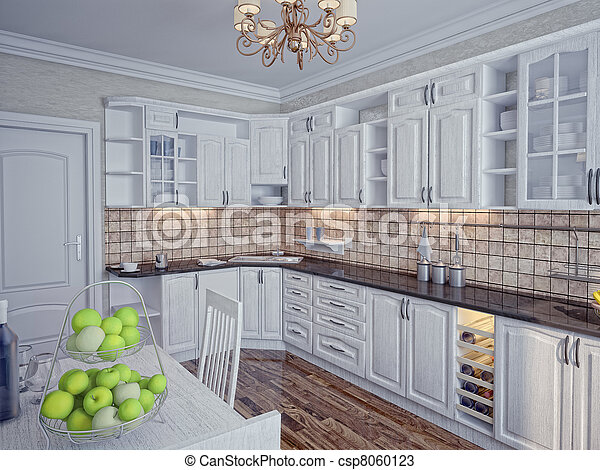 Kitchen interior - csp8060123