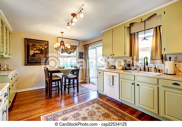 Kitchen interior with dining area - csp22534125