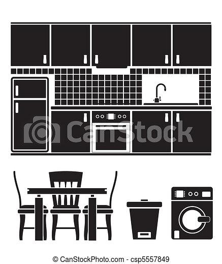 kitchen objects - csp5557849