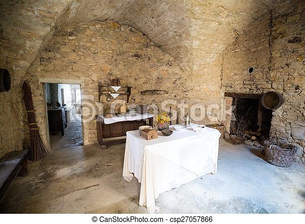 Kitchen Of Ancient Castle