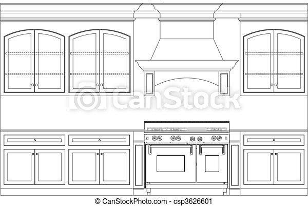 kitchen plan - csp3626601
