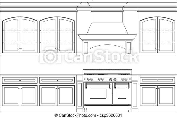 kitchen plan - csp3626601