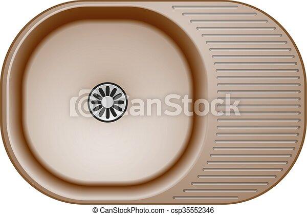 kitchen sink abstract - csp35552346