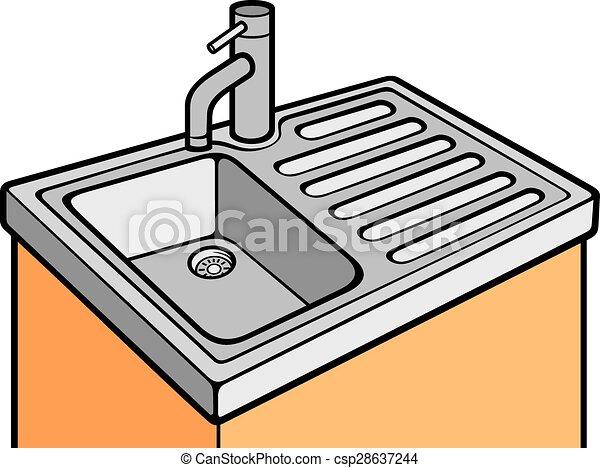 kitchen sink eps vector search clip art illustration drawings rh canstockphoto com sink clip art sink clip art
