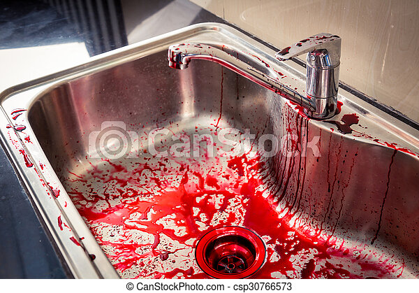 Kitchen sink with blood for halloween picture - Search Photo Clipart ...