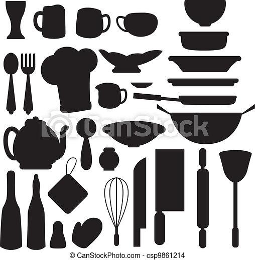 kitchen stuff icons - csp9861214