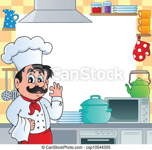 Kitchen theme frame 1 - csp10544305