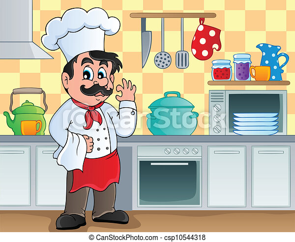 Kitchen theme image 2 - vector illustration. vector clip ...