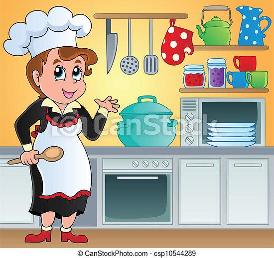 Kitchen theme image 6 - csp10544289