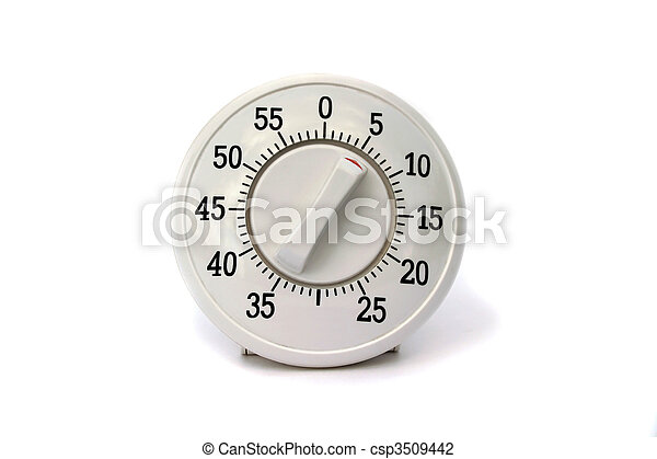 Kitchen timer isolated - csp3509442