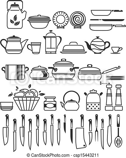 Kitchen Tools And Utensils Vector Illustration