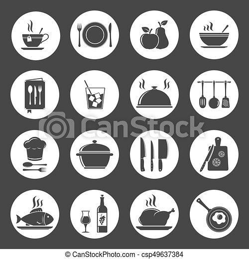 Kitchen Utensil Icons - csp49637384