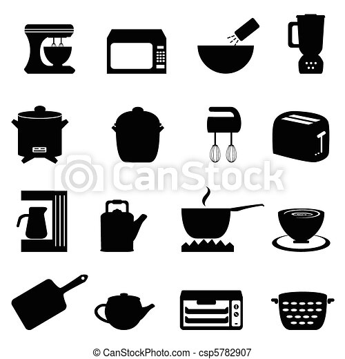 Kitchen utensils and items - csp5782907