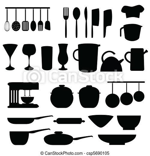 Kitchen Utensils And Tools Vector