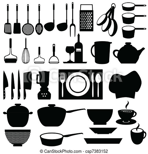 Kitchen Utensils And Tools Vector