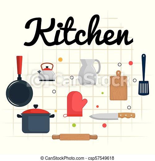 Kitchen Utensils Equipment Icons