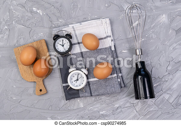 Kitchen Utensils For Commercial Kitchen Restaurant Cooking Kitchen And Food Concept Top View Variety Of Kitchen Utensils Canstock