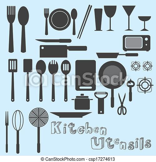 Kitchen Utensils Vector - csp17274613
