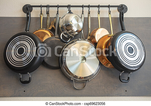 Kitchen Wall Rack For Hanging Pots Pans Aprons And Other Utensils For Storage And Decor Kitchen Wall Rack For Hanging