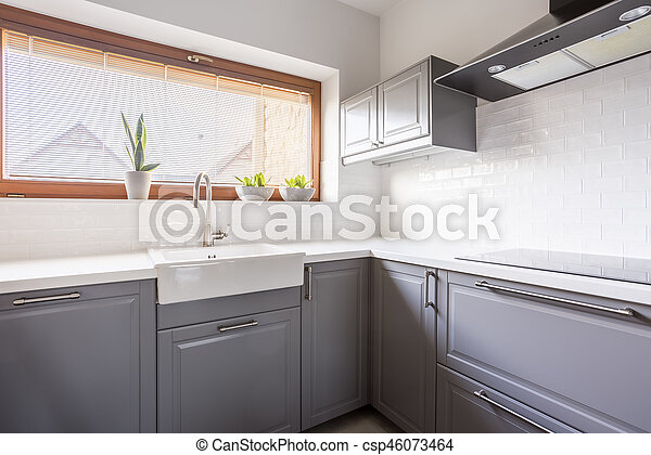 Kitchen with canopy - csp46073464
