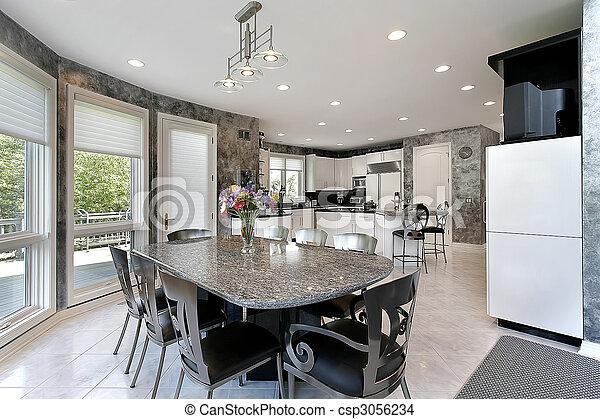 Kitchen with deck view - csp3056234