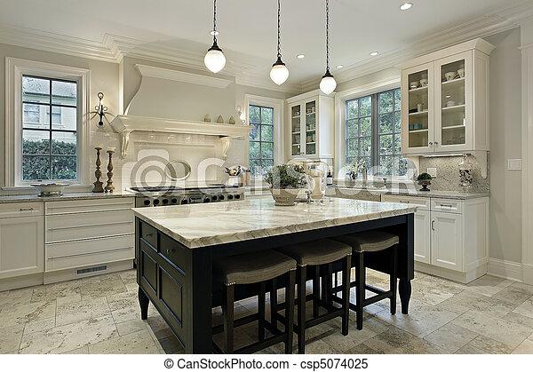 Kitchen with granite countertops - csp5074025