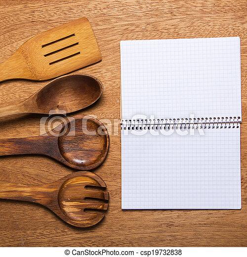 Kitchen. Wooden utensil - csp19732838