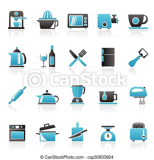 Kitchenware objects icons - csp30833924