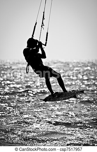 Kite Surfer Silhouette - csp7517957