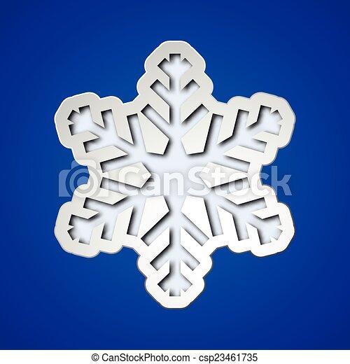 kivág, hópehely, karácsony - csp23461735