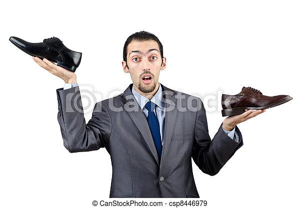 kiválasztás, cipők, ember - csp8446979