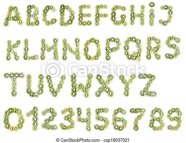 kiwi, alfabeto - csp18037021