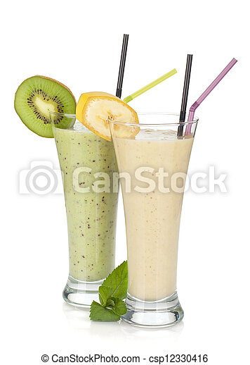 Kiwi and banana milk smoothie - csp12330416