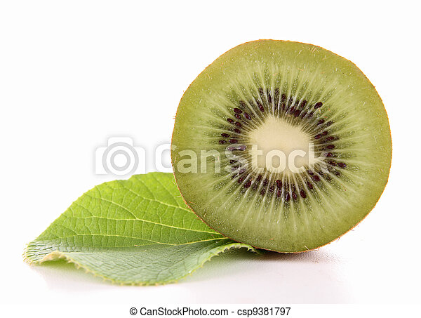 kiwi and leaf - csp9381797