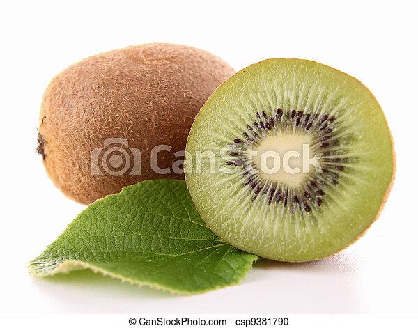 kiwi and leaf - csp9381790