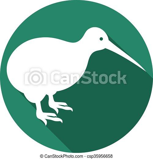 kiwi bird flat icon - csp35956658