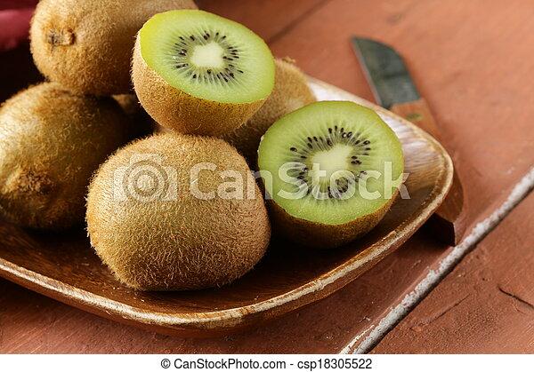 kiwi, fruit frais, mûre, doux - csp18305522