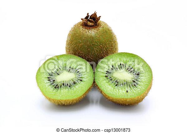 Kiwi Fruit Isolated on white background - csp13001873