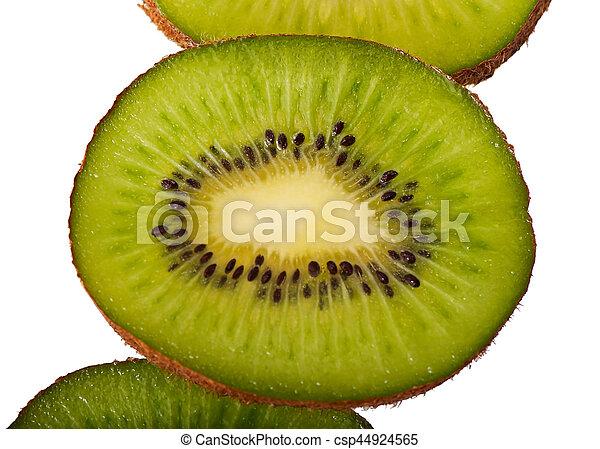 Kiwi fruit isolated on white background. - csp44924565