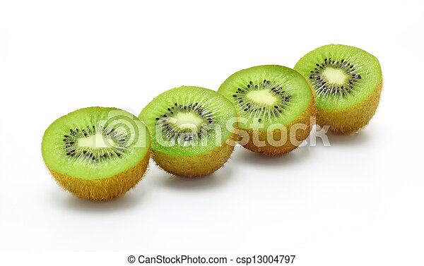 Kiwi Fruit Isolated on white background - csp13004797