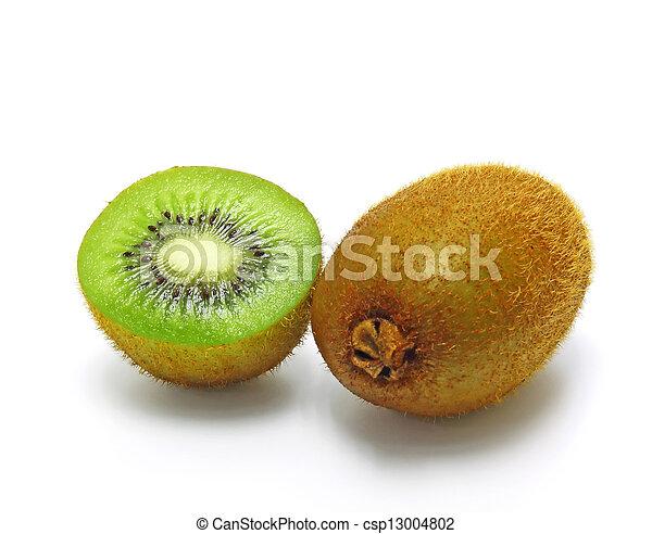 Kiwi Fruit Isolated on white background - csp13004802