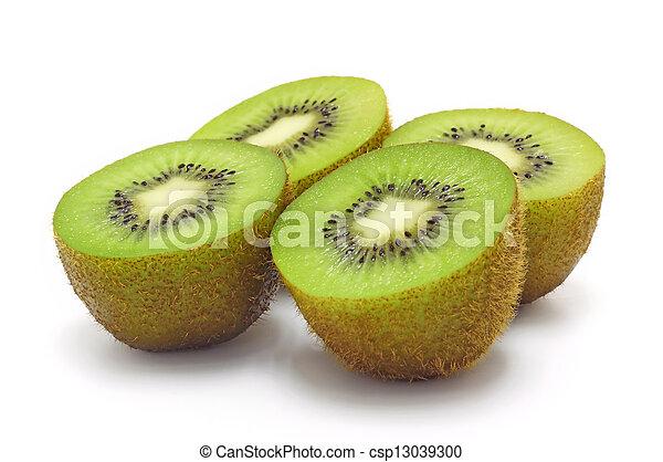 Kiwi fruit on a white background - csp13039300